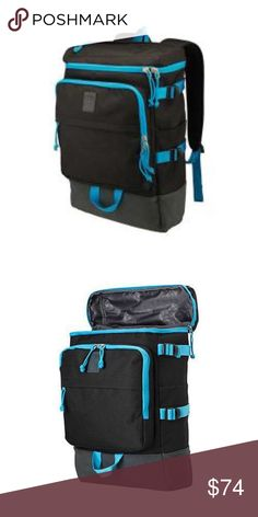 "Puma Geosphere Backpack The Geosphere Backpack has a two way zippered compartment with flip top lid. Zip main compartment Padded laptop and tablet sleeves Zippered stash pocket on lid. :Dimensions: 17.5"" x 5.5"" x 11.5 Puma Bags Backpacks"