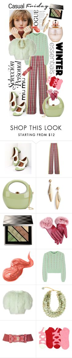 """🍏🍎"" by yee-yan ❤ liked on Polyvore featuring Royal Vintage, Diane Von Furstenberg, Rocio, Halogen, Burberry, Bobbi Brown Cosmetics, Miu Miu, Nina Ricci and Dominique Denaive"