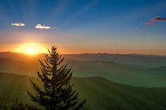 Clingman's Dome Sunrise at Great Smoky Mountains National Park - one of my fav places