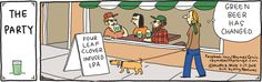 Who knows what the next step for green beer is on #StPatricksDay like this #RhymesWithOrang #Comic. https://twitter.com/140letterrecipe