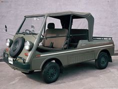 Honda Vamos mid engined cab-over pick up convertible mini truck. Tuning Honda, Vintage Cars, Antique Cars, Automobile, Mini Car, Beach Cars, Weird Cars, Mini Trucks, Cute Cars