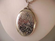 Extra large birks sterling silver locket on by TorontoTreasures