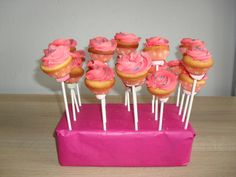 Mini cupcake op stokje/ on a stick