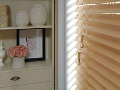 These Parkland Wood Blinds have a classic look that complement the lines of any room. If you're looking for versatility, these are available in a large selection of solid colors. Custom Shutters, Custom Windows, Inviting Home, Wood Blinds, Window Coverings, Home Goods, Hardwood, House Design, Curtains