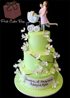 Cake topper iS cute for a baby shower