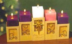Celebrate Christ Advent Candle Holder (41427)