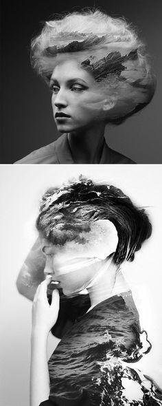 Lucy Olive :: Design Blog: NATURE + PORTRAIT COLLAGE