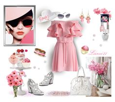 """""""PINK DAY"""" by lumi-21 ❤ liked on Polyvore featuring Chicwish, Valentino, Fantasy Jewelry Box, Werner, Forever 21, Bormioli Rocco, Dartington Crystal, Sally Hansen, Christian Dior and Creed"""