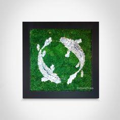 Moss Wall Art, Moss Art, Moss Graffiti, Terrarium Diy, Flower Decorations, Mousse, Eco Friendly, Interior Design, Painting