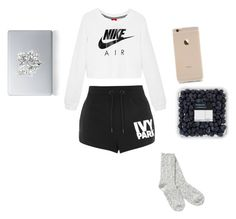 """bored af"" by calismoedyessi ❤ liked on Polyvore featuring NIKE, Topshop, Vinyl Revolution and TNA"