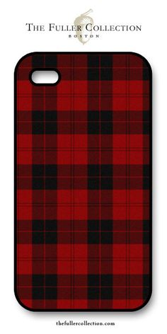 Lodge Tartan - Red + Black phone cover -thefullercollection