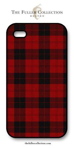 Red + Black Tartan iphone Cover