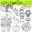 THanksgiving Blackline stamps product from kpmdoodles on TeachersNotebook.com
