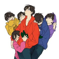 Osomatsu, Karamatsu, Choromatsu, Ichimatsu, Jyushimatsu and Todomatsu Hot Anime Guys, Anime Love, Fanart, Manga Anime, Anime Art, Vocaloid, Dibujos Anime Chibi, Osomatsu San Doujinshi, Gekkan Shoujo