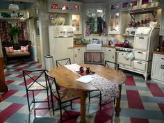 the kitchen set on Hot in Cleveland