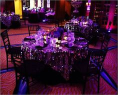 Purple lighting in the Aujourd'hui Event Space at Four Seasons Boston