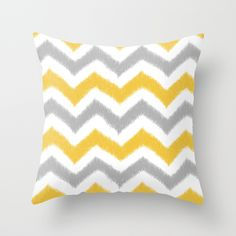 Chevron IKAT Throw Pillow