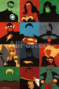 Justice League - Minimalist Photo at AllPosters.com