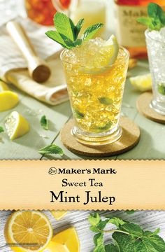Freshly brewed, chilled black tea helps power this refreshing riff on the Julep. Sure to delight during, and after, a thrilling day at the races. Ingredients: 2 parts Maker's Mark® Bourbon, 2 parts freshly brewed and chilled black tea, 1 part fresh lemon juice, 1 part simple syrup and fresh mint leaves.