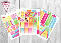Free Printable Summer Planner Stickers from ResaZpieces