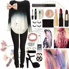 """Pastel goth #1"" by tokiorose on Polyvore"