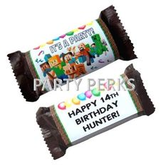 Fits Snickers Minecraft Birthday Party Candy Wrappers Favors Decorations | eBay