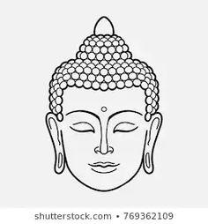 buddha tattoos outline ~ buddha outline tattoo & buddha outline tattoo beautiful & buddha tattoo small outline & outline of buddha tattoo & fat buddha tattoo outline & buddha outline drawing tattoos & buddha tattoos outline & buddha tattoo design outline Buddha Drawing, Buddha Painting, Buddha Art, Buddha Head, Yoga Drawing, Buddha Symbols, Yoga Symbols, Hindu Symbols, Buddha Tattoo Design
