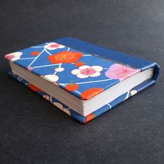 Blue Plum Blossom pocket sized handmade book by Ruth Bleakley