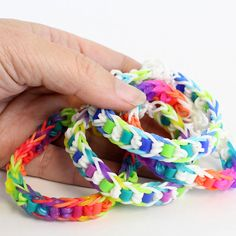 Easy Rainbow Loom Bracelet with Perler Beads Tutorial