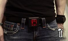 Retropoly: Glowing Arcade Coin Slot Belt Buckles