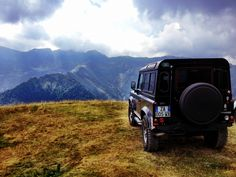 """Porthos"" Land Rover Defender puma on the Alps"