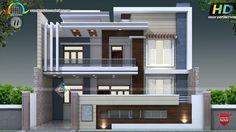 decorative style contemporary home alm дизайн дома, Best Modern House Design, Modern Exterior House Designs, Contemporary House Plans, Modern House Plans, Modern Houses, Exterior Design, Modern Contemporary, 3 Storey House Design, Bungalow House Design