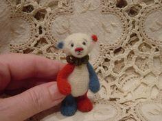 Miniature thread crochet teddy bear Glory by CrochetTeddyBears