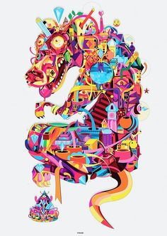 Yoaz is à very interesting artist. Don't know how he does it, but his 'patterns' are very cool.