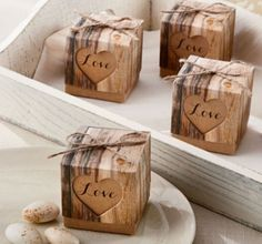 Rustic Tree Wedding Favor Boxes 24ct - Party City