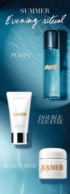 An evening ritual suited for summer. Double-cleanse to remove all traces of the…