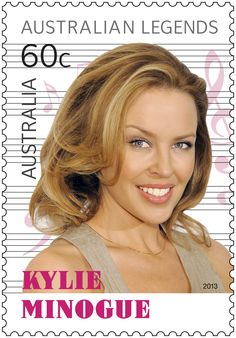 Australian Music Legend Kylie Minogue: Australia's original pop princess. #auspost #stamps #kylieminogue #legends