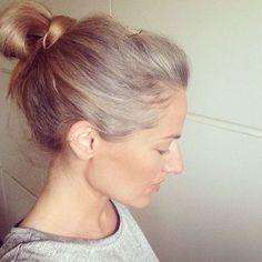 Gray hair transition for light hair ladies