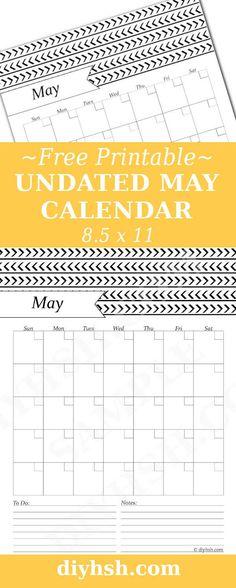 May Black & White Calendar - Free Printable | DIY Home Sweet Home