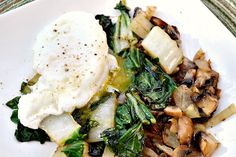 Sauteed Veggies with a Poached Egg - one day I will master a poached egg. However, I guess I should work on a perfect hard boiled egg.