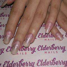 #cndvinylux in #grapefruitsparkle with #artiglio #glitterfade in #marsha and #moyoulondon #butterfly #silver #nailstamping  #lovecnd #lovemyjob #sweetsquared #wedding #weddingnails #mobilenails #cardiffnails #cardiff #elderberrynails #pink #sparkle #glitter #butterflies #nailart #pretty #longnails #naturalnails #holiday #bridesmaid #family  @artigliobysarahbland @servethepro @cndworld @moyou_london @citylifecardiff