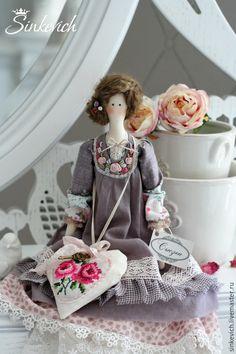 Купить Сьюзен - тильда, кукла ручной работы, интерьерная кукла, для дома и интерьера, подарок девушке