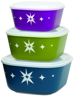 Here are some of the latest food storage containers coming out of IH+HS this year and vying for a spot in fridges, lunch bags, pantries and countertops. Aladdin, Bleu Violet, Kitchenware, Tableware, Nesting Bowls, Food Storage Containers, Bowl Set, Retail Price, Plastic