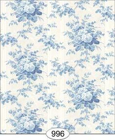 Wallpaper - Floral Moire - Blue [WAL0996] - $0.00 : itsy bitsy mini, Wholesale & Retail Dollhouse Wallpaper & Accessories