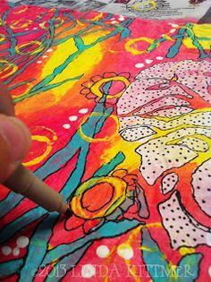 StencilGirl Talk: Heart Swirl Love...a journal cover tutorial