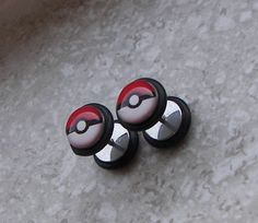 Pokeball fake plug gauges.