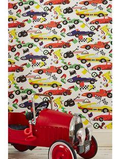 Graham U0026 Brown Boys Multi Coloured Racing Car Pit Stop Wallpaper