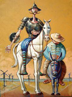 Dom Quixote e Sancho (artista: Assis Costa, de Currais Novos-RN)                                                                                                                                                                                 More