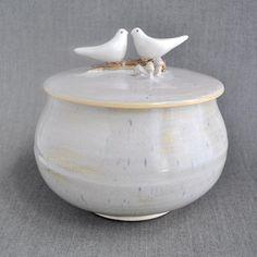 Love Birds ceramic keepsake box...nice wedding gift idea...
