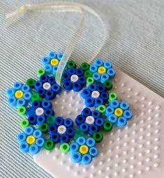 Perler Bead Designs, Hama Beads Design, Perler Bead Templates, Diy Perler Beads, Hama Beads Patterns, Perler Bead Art, Pearler Beads, Fuse Beads, Jewelry Patterns